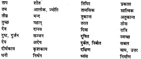 Bihar Board Class 12th Hindi व्याकरण विलोम या विपरीतार्थक शब्द 9
