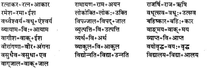 Bihar Board Class 12th Hindi व्याकरण संधि 22