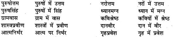 Bihar Board Class 12th Hindi व्याकरण समास 11