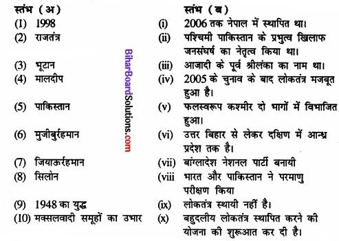 Bihar Board Class 12 Political Science Solutions chapter - 5 समकालीन दक्षिण एशिया Part - 1 img 1