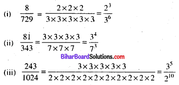 Bihar Board Class 7 Maths Solutions Chapter 8 घातांक Ex 8.1 Q9