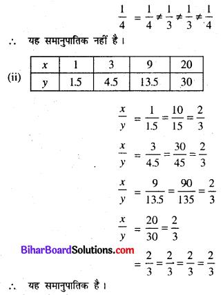 Bihar Board Class 8 Maths Solutions Chapter 11 सीधा और प्रतिलोम समानुपात Ex 11.1 Q1.1