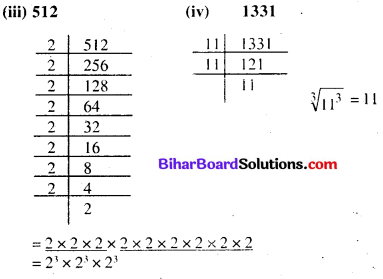 Bihar Board Class 8 Maths Solutions Chapter 6 घन और घनमूल Ex 6.2 Q1.1