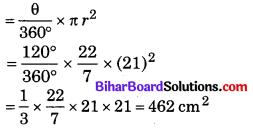 Bihar Board Class 10 Maths Solutions Chapter 12 वृतों से संबंधित क्षेत्रफल Additional Questions SAQ 1