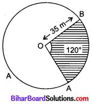 Bihar Board Class 10 Maths Solutions Chapter 12 वृतों से संबंधित क्षेत्रफल Additional Questions SAQ 2
