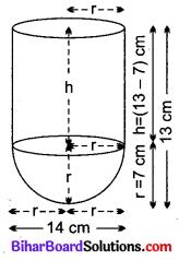Bihar Board Class 10 Maths Solutions Chapter 13 पृष्ठीय क्षेत्रफल एवं आयतन Ex 13.1 Q2