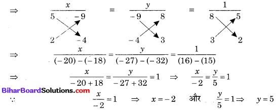 Bihar Board Class 10 Maths Solutions Chapter 3 दो चरों वाले रैखिक समीकरण युग्म Ex 3.5 Q3.1