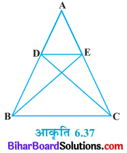 Bihar Board Class 10 Maths Solutions Chapter 6 त्रिभुज Ex 6.3 Q6