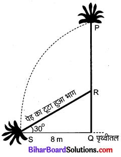 Bihar Board Class 10 Maths Solutions Chapter 9 त्रिकोणमिति के कुछ अनुप्रयोग Ex 9.1 Q2