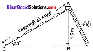 Bihar Board Class 10 Maths Solutions Chapter 9 त्रिकोणमिति के कुछ अनुप्रयोग Ex 9.1 Q3