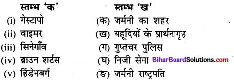 Bihar Board Class 9 History Solutions Chapter 5 जर्मनी में नाजीवाद का उदय - 1