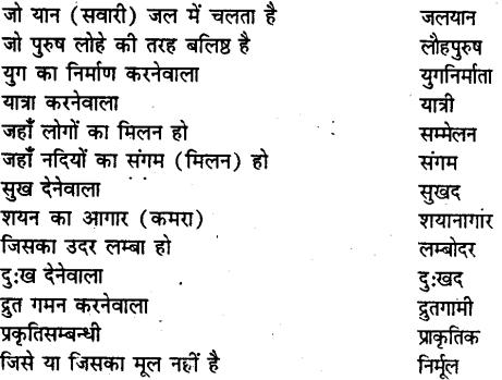 Bihar board class 9 hindi व्याकरण अनेक शब्दों के लिए एक शब्द - 12