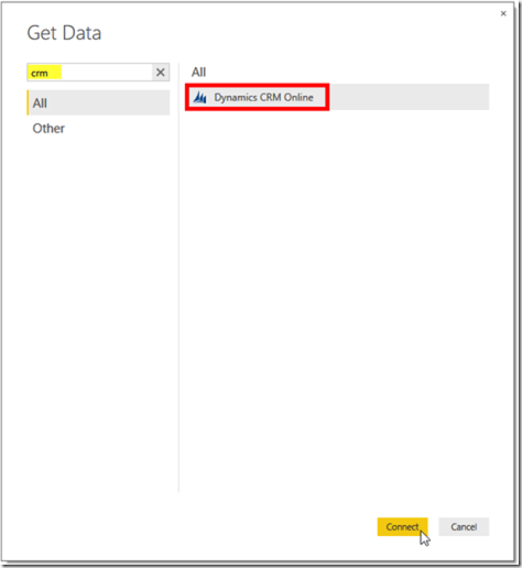 Dynamics CRM and Power BI 4