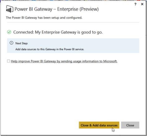 Installing Power BI Enterprise Gateway 04