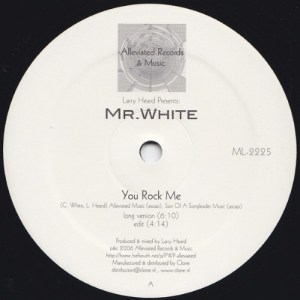 Larry Heard presents Mr White - The Sun Cant Compare / You Rock Me - ML2225 - ALLEVIATED RECORDS