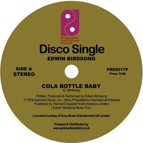 Edwin Birdsong - Cola Bottle Baby - PR65017P - Philadelphia International Records