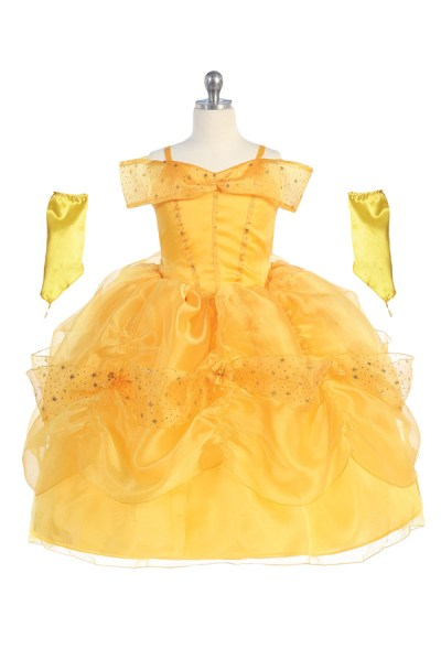 yellow princess dress