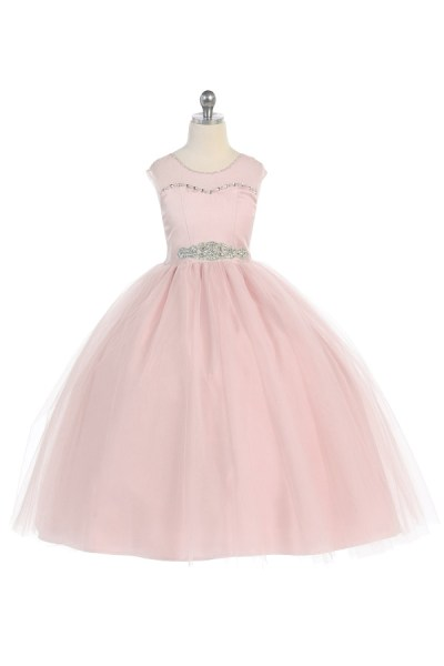 Flower girl dress in blush pink
