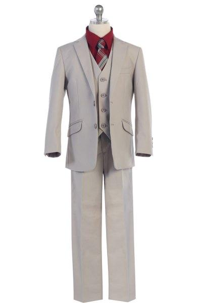 light grey boy's suit