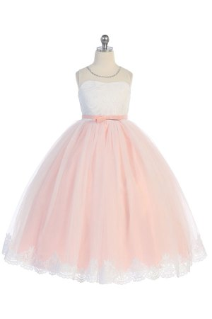 8030 wholesale blush dress with white top, mayoreo vestido de niñas