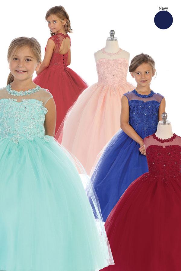solo mayoreo vestidos de niñas envarios colores con bordado