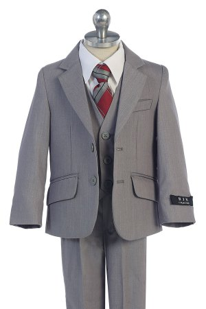wholesale boys suits in gray color