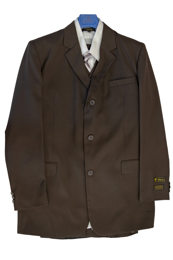 Boltini chocolate brown suit