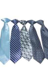 Blue clip ties
