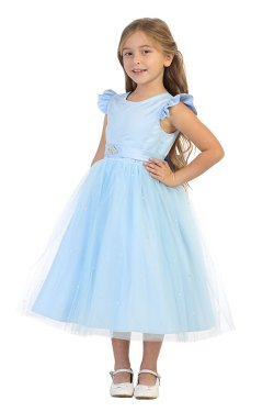 Los Angeles ca wholesale girls tea length short tulle dress