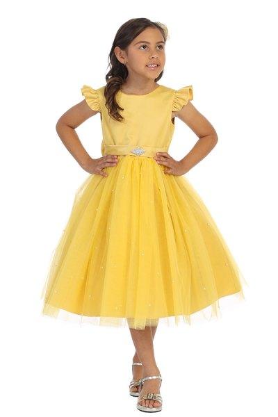 Los Angeles ca wholesale girls tea length short tulle dress