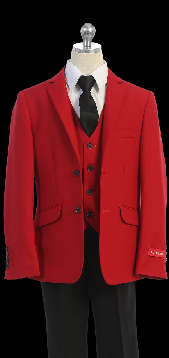 BJK Collection suit for boys in red