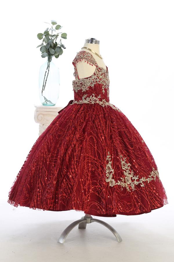 Beautiful glitter and sequins dress, vestido presentasion
