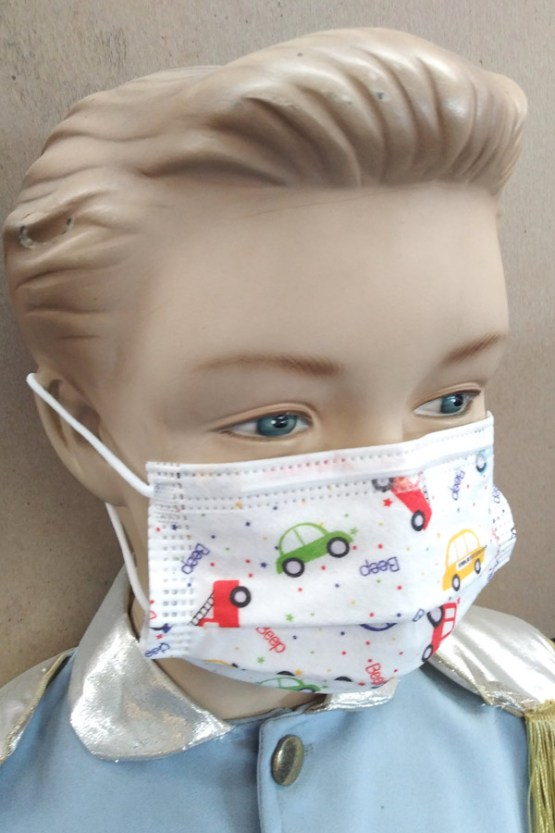 KIDS FACE MASKS PRINTED DESIGNS FOR BOYS AND GIRLS MIXED PACK