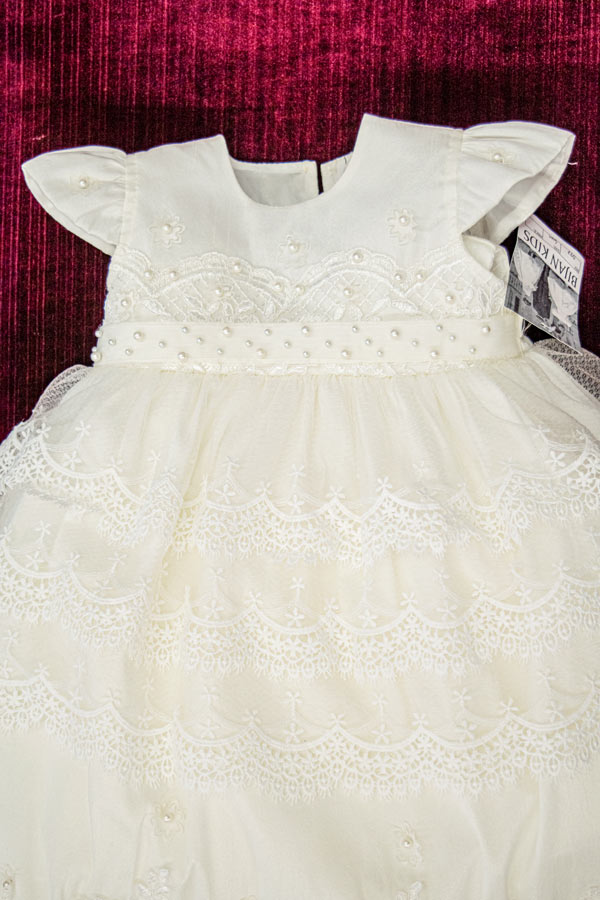 ivory baptism gown for girls