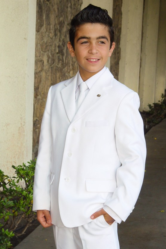 White suit for boys communion