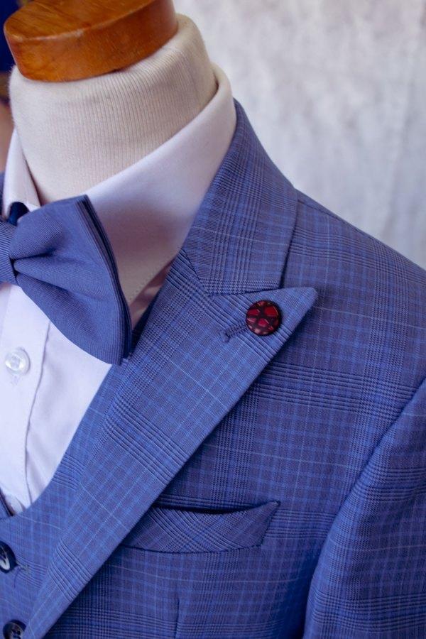 bijan kids blue plaid suit wholesale