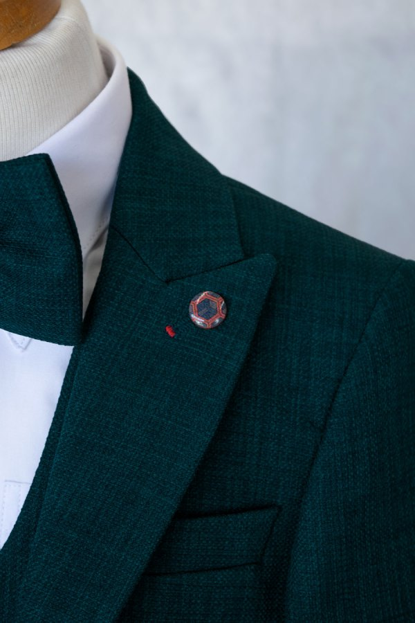 Bijan Kids Emerald Green boy's suit