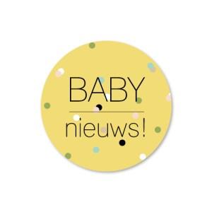 Bij Bis collectie preview geboortekaartje confetti 210x100 sluitzegel