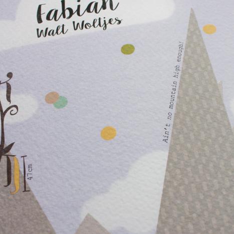 Fabian geboortekaartje detail quote Portfolio bij Bis