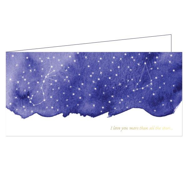 trouwkaart sterrenhemel voorkant 2
