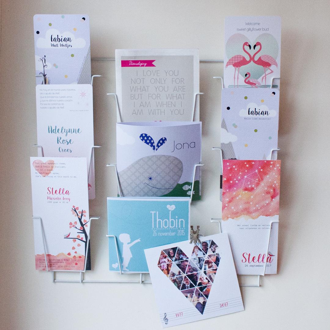 kaartenrek geboortekaartjes