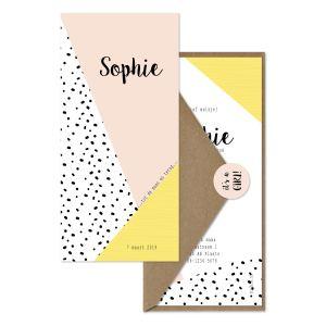geboortekaartje spots ♡ pink set