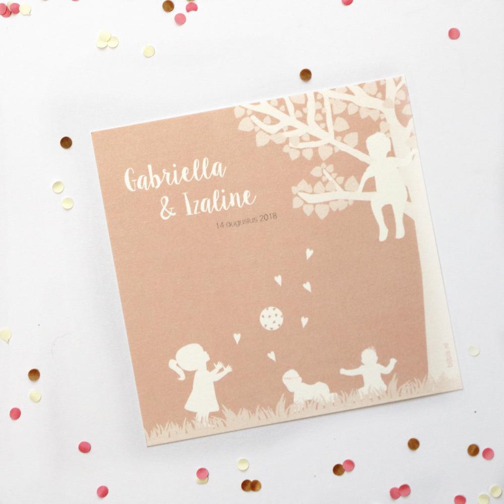 persoonlijk geboortekaartje of bijzondere trouwkaart