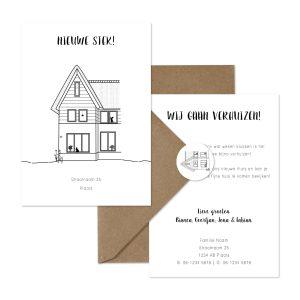 nieuw thuiskaart | verhuiskaart set