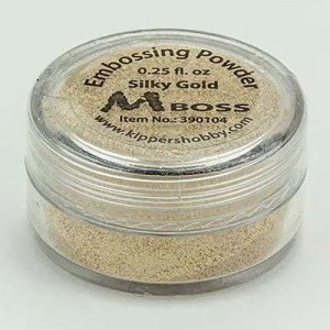 Mboss embossing powder silky gold