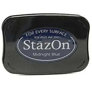 Stazon stempel inkt - midnight blue