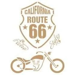 Stencil route 66 / motorcycle 32 x 48
