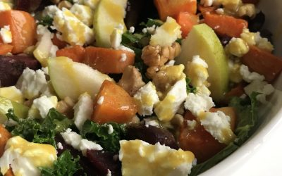 Winterse pompoen salade met boerenkool