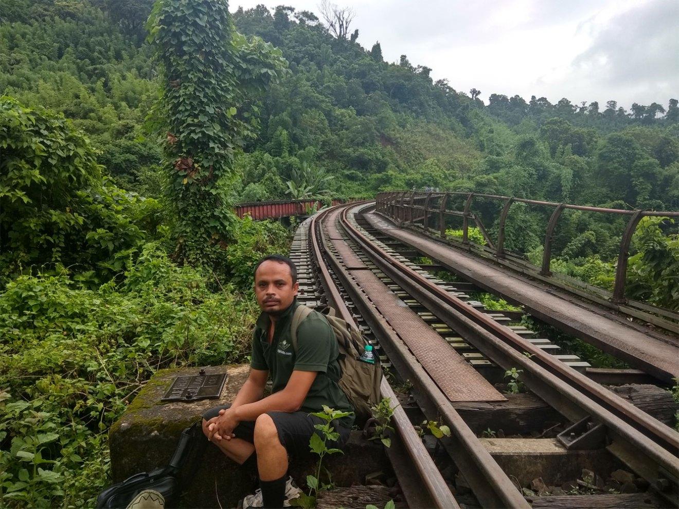 Heritage walk at Dima Hasao- Abandoned Railway Bridge