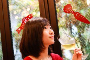 白ワインが似合いますね